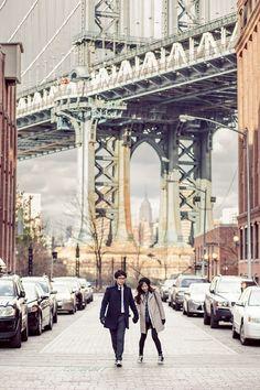 브루클린 덤보에서 촬영한 뉴욕 허니문 스냅 사진입니다.