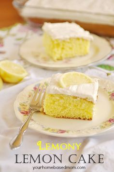 Lemony Lemon Cake @yourhomebasedmom  The most amazing lemon frosting!  #cakes, #recipes, #lemon