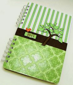 Day 16: homemade day planner. not hipster, but I did put a bird on it. #30daysofcreativity
