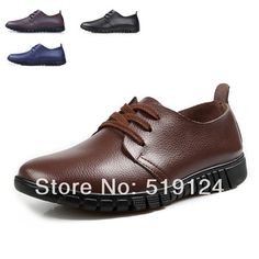 Aliexpress.com   Buy Free Shipping 2014 New lightweight leather men s  casual shoes fashion shoes flat heels black designer men dress shoes from  Reliable ... 501d9f95f