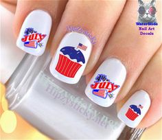 Nail art decals and decoration stickers 20 graduation cap class nail art waterslide decals and nail decoration slides 20pc 4th of july 10 cupcake prinsesfo Image collections