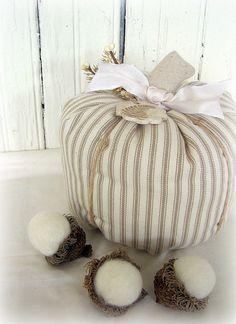 ticking pumpkin and I want to make those acorns!