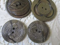 Vintage Buttons  Wafer style celluloid 2 matching by pillowtalkswf, $5.50