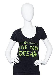 Live Your Dream Burnout V-neck