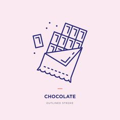 Chocolate Line Icons Chocolate Line, Chocolate Drawing, Graphic Design Fonts, Logo Design, Sweet Logo, Logo Food, Line Icon, Sticker Design, Icon Set