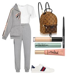 """""""Untitled #152"""" by anabumbu-1 ❤ liked on Polyvore featuring T By Alexander Wang, Gucci, Bobbi Brown Cosmetics and Too Faced Cosmetics"""