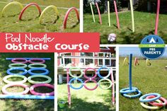 Parents are always looking for ways to keep their kids happy and entertained during the summer. This easily customizable pool noodle obstacle course is perfect for a kid's play date, party or a fam...