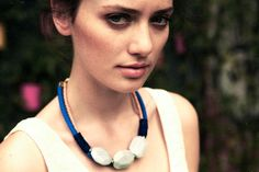 Bahia Blue Necklace by La Raffinerie #spring2013 #statementnecklace #jewelry #lepigeon #marinereed