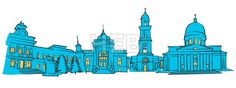 Chisinau, Moldova, Colored Panorama by Hebstreit #stockimage #vector #capital #travel #sign #beautiful #famous #architecture #landmark hebstreit