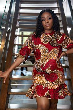 African Dashiki Dress, African Fashion Ankara, Latest African Fashion Dresses, African Print Fashion, Africa Fashion, African Style, Ankara Short Gown Styles, Short African Dresses, African Wedding Dress
