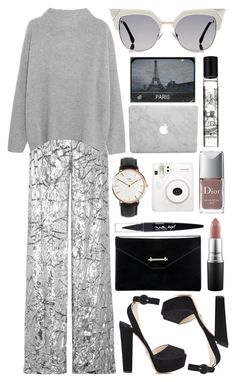 Untitled #618 by clary94 on Polyvore featuring polyvore Vince Delpozo Prada M2Malletier Daniel Wellington Fendi MAC Cosmetics Maybelline Diptyque Christian Dior Fuji NARS Cosmetics fashion style clothing