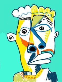 "Cubism-inspired portrait ""In Your Eyes"", 2013, www.mattvaillette.com"