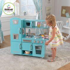 Kidkraft Vintage Wooden Play Kitchen Set Navy