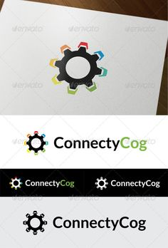 "ConnectyCog  #GraphicRiver         -Fully customizable logo -100% vector -CMYK color mode -Easy to edit the colors and the font -Font used ""Lato"" , and you can download it from here:  .fontsquirrel /fonts/lato  	 Please vote if you like it. Thanks in advance.     Created: 1November12 GraphicsFilesIncluded: VectorEPS #AIIllustrator Layered: No MinimumAdobeCSVersion: CS3 Resolution: Resizable Tags: cog #colored #connection #electric #gear #marketing #social #wheel"