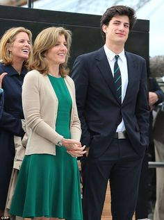 Caroline Kennedy (front) and her son Jack both gave speeches at the 'JFK 50' celebration to commemorate their father and grandfather's (respectively) visit to the country 50 years ago