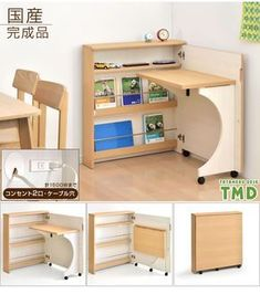 Gambaru Kaguya Tansu no Gen: Product made in child boy Japan outlet shelf of the desk compact folding bookshelf Shin pull PC desk folding desk desk learning learning desk desk desk child woman with domestic finished product shelf, outlet Folding Furniture, Smart Furniture, Space Saving Furniture, Home Furniture, Furniture Design, Furniture Ideas, Pallet Furniture, Geometric Furniture, Multifunctional Furniture