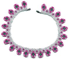 Free Forget-Me-Not Necklace Pattern by Maria Kniazeva aka Magic at Sova-Enterprises.com