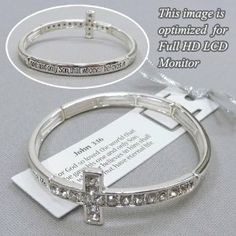 "Designer Inspired Silver Tone Message Bracelet. 1 Corinthians 13 Bible Verse. Rhinestone Sideways Side Cross Charm. ""Love is Patient Love is Kind.."" Hail Mary Gifts. $14.95. Jewelry"