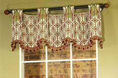 Pate-Meadows Designs has great patterns for unique valances. This is the one I used for living room and kitchen valances.