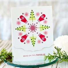 Bring On The Jingle Card by Betsy Veldman for Papertrey Ink (October 2017)