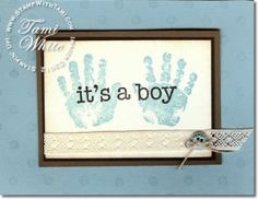 It's a Boy (or a girl) baby card using Stampin Up Baby Prints stamp Set