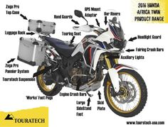Touratech Announces Africa Twin Accessories! - Honda CRF1000L Africa Twin Forum