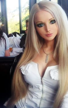 Human barbie... Valeria Lukyanova.. idk if its just me but this chick hella scares me