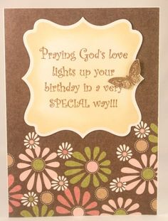 Handmade Christian Birthday Card for women or girls.  See more photos at: https://www.etsy.com/listing/101774295/christian-birthday-card