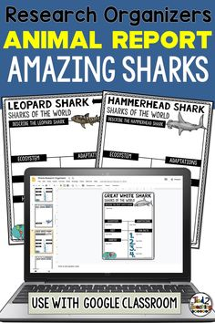 These digital SHARKS of the world research organizers are the perfect tool to help your students organize their research for their project or report. Each digital shark research organizer helps students organize a variety of information about their chosen shark including its ecosystem, habitat, a description, its diet, fun facts and more. Perfect for use with Google Classroom, each of these digital research organizers also comes with a page for students to write a short research report.