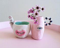 WEBSTA @ laurie_melia_ceramics - More works in progress Diy Clay, Clay Crafts, Diy And Crafts, Arts And Crafts, Sculptures Céramiques, Sculpture Clay, Ceramic Sculptures, Ceramic Clay, Ceramic Pottery