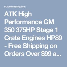 Blueprint engines bp3834ct1 sbc 383 stroker base crate engine atk high performance gm 350 375hp stage 1 crate engines hp89 free shipping on orders malvernweather Images