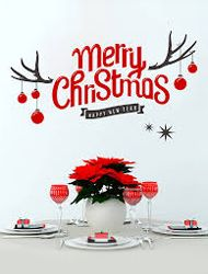Christmas Wall Decorations gives you amazing feel and provide a beautiful look to your home. But the wall decoration is a king of stuff. Merry Christmas, Xmas, Wall Stickers Murals, Christmas Stickers, Antlers, Bing Images, Gifts, Wall Decorations, Holidays