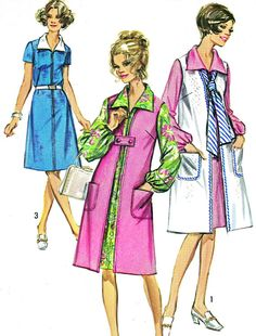 1970s Dress Pattern and Duster Simplicity 9224 A by paneenjerez, $10.00
