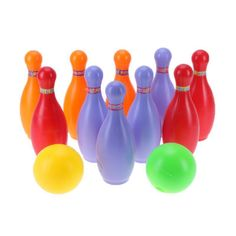Children Plastic Bowling Ball Toys Set Kids Indoor Outdoor Sport Ability Toys Bo
