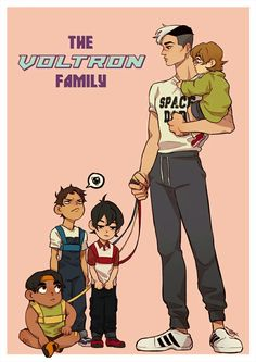 Space dad & the kids hahaha!!! Shiro is seriously like the dad of the bunch. It's sooo cute!! Accurate description!