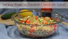 Get Your Freek On: Freekeh Greek-eh Salad Recipe :: YummyMummyClub.ca