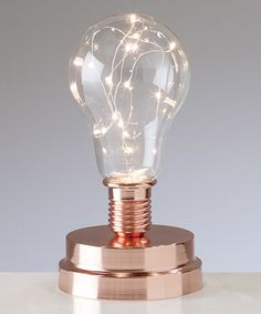 Another great find on #zulily! Copper Lightbulb LED Mini Lamp #zulilyfinds