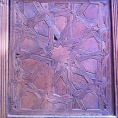 Door to 12th century synagogue in Toledo, Spain