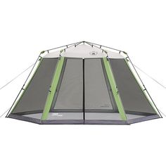 Create a shady, airy place to relax outdoors with this portable instant screened shelter by Coleman. The shelter is seven feet tall, so there's plenty of room to stand up. It assembles in less than a minute and includes an extra bug screen. OVERSTOCK