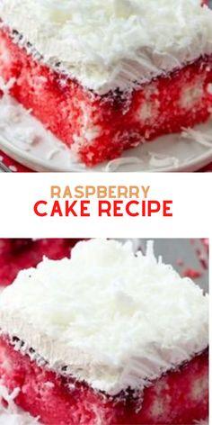 Raspberry Zinger Cake, Raspberry Recipes, Cake Mix Ingredients, Cake Recipes From Scratch, Box Cake Mix, White Cake Mixes, Dessert Recipes, Desserts, Holiday Recipes