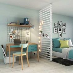 Interior Living Room Design Trends for 2019 - Interior Design Apartment Layout, Apartment Design, Interior Design Kitchen, Interior Design Living Room, Home Bedroom, Bedroom Decor, Ikea Design, Studio Apartment Decorating, Small Bedrooms