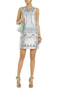 Mary Katrantzou Lella metallic jacquard mini dressfront
