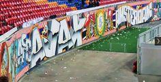 ajax amsterdam Wall Murals, Amsterdam, Graffiti, Fair Grounds, Football, Fun, Travel, Wallpaper Murals, Soccer