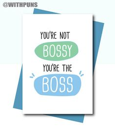 Card for Boss Boss leaving card Funny Boss Birthday card