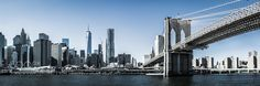 Brooklyn Bridge new York Pano - Pinned by Mak Khalaf Travel city by themindtrekker