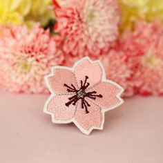 Flower Patch Pastel Cherry Blossom Sakura Patch Iron On by mimosch