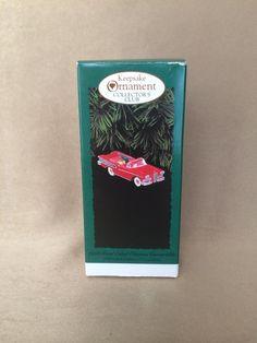Hallmark Ornament, 1958 Ford Edsel, Citation Convertible, Keepsake Ornament, Holiday Decor, Vintage Hallmark, Red Edsel Car, Original Box