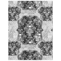 "Title : 40, Bling B&W, Skull wth Damask Background Print Fleece Blanket  Description : My Customized Designs are Flat Prints, placed on Fabrics and/or other surfaces. Maximizing, Shadowing, and Visual Volume to create Depth, and Dimension. I create the Design and each product has its own description. ""Bling-Bling"", ""Preppy-Fashions"", ""Girly-Chic"", ""Hip-Hop-Style"", ""Fashion-Accents-Accessories"", Monograms, ""Sparkle-Glitter-Shine"", ""Jewels-Jewelry"", Diamonds, ""Faux-Gemstones"", Metallic..."