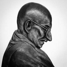 Ghandi ji at Scarlette Maison d'hôtes in New Delhi  www.scarlettenewdelhi.com  photo @wickedswami New Delhi, Buddha, Statue, Art, Art Background, Kunst, Performing Arts, Sculptures, Sculpture