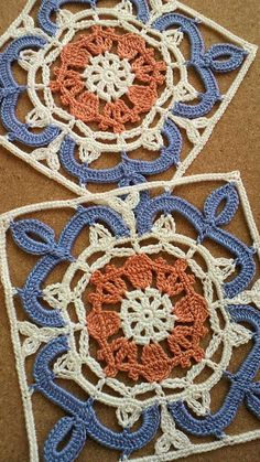 Felissimo Turkish Tile nº 4 This Pin was discovered by Uğu Crochet Blocks, Granny Square Crochet Pattern, Crochet Stitches Patterns, Crochet Squares, Crochet Granny, Irish Crochet, Granny Squares, Diy Crafts Crochet, Crochet Art